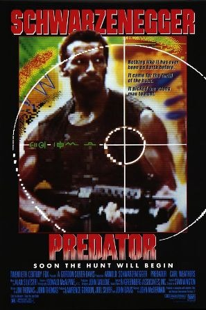 Predator movie poster starring Arnold