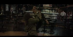 mass fight scene in a bar from Raid 2