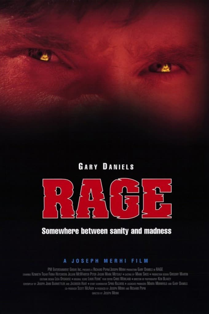 'rage' with gary daniels-a movie poster