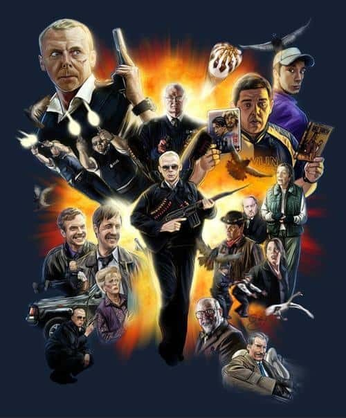 hot fuzz fan art poster